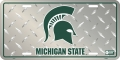 Michigan State Spartans Diamond Plate License Plate