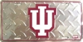 Indiana Hoosiers Diamond Plate License Plate