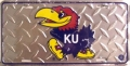 Kansas Jayhawks Diamond Plate License Plate