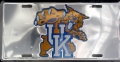 Kentucky Wildcats Chrome Aluminum License Plate