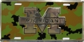 Michigan Wolverines Camouflage Aluminum License Plate