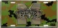 Mississippi State Bulldogs Camouflage Aluminum License Plate