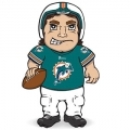 Miami Dolphins Dancing Musical Halfback Mascot Doll