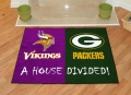 Minnesota Vikings vs Green Bay Packers House Divided Floor Rug