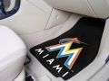 Miami Marlins MLB Universal 2pc Carpeted Floor Mats
