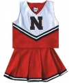 Nebraska Cornhuskers NCAA College Youth Cheerleading Outfits-FREE SHIPPING