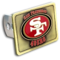San Francisco 49ers NFL Square Hitch Cover