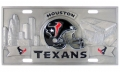 Houston Texans NFL 3D Pewter License Plate