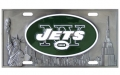 New York Jets NFL 3D Pewter License Plate