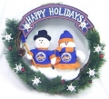 "New York Mets 20"" Team Snowman Wreath"