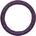 "Rig Matters 18"" Diamond Cushion Style Purple & Gold Semi Truck Steering Wheel Cover"