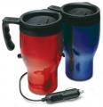 Set of Two RoadPro 12-Volt Heated Travel Mugs