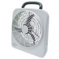 "RoadPro 12 Volt or Battery Powered Dual Power Portable High Velocity 10"" Fan"