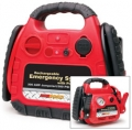 Road Pro 12 Volt Rechargeable Emergency System w/ 12-Volt Power Port & Air Compressor