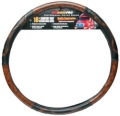 "RoadPro 18"" Comfort Grip Black Woodgrain Semi Truck Steering Wheel Cover"