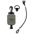 Hammerhead Industries Standard Retractable Chrome CB Mic GearKeeper with Snap Clip