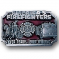 America's Firefighters 3D Belt Buckle