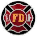FireFighter Fire Department Logo Hitch Cover