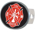 American FireFighter Oval Hitch Cover
