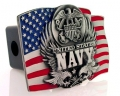 United States Navy American Flag Hitch Cover