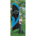 "Carolina Panthers NFL Applique & Embroidered 102"" x 30"" Tall Team Flag"