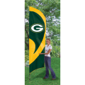 "Green Bay Packers NFL Applique & Embroidered 102"" x 30"" Tall Team Flag"