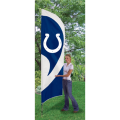"Indianapolis Colts NFL Applique & Embroidered 102"" x 30"" Tall Team Flag"