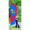 "Kansas Jayhawks NCAA Applique & Embroidered 102"" x 30"" Tall Team Flag"
