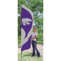 "Kansas State Wildcats NCAA Applique & Embroidered 102"" x 30"" Tall Team Flag"