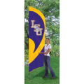 "LSU Tigers NCAA Applique & Embroidered 102"" x 30"" Tall Team Flag"
