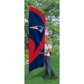 "New England Patriots NFL Applique & Embroidered 102"" x 30"" Tall Team Flag"