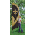 "New Orleans Saints NFL Applique & Embroidered 102"" x 30"" Tall Team Flag"