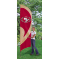 "San Francisco 49ers NFL Applique & Embroidered 102"" x 30"" Tall Team Flag"