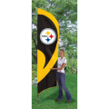 "Pittsburgh Steelers NFL Applique & Embroidered 102"" x 30"" Tall Team Flag"