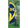"Michigan Wolverines NCAA Applique & Embroidered 102"" x 30"" Tall Team Flag"