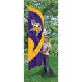 "Minnesota Vikings NFL Applique & Embroidered 102"" x 30"" Tall Team Flag"