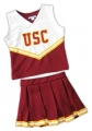 USC Trojans NCAA College Youth Cheerleading Outfits-FREE SHIPPING