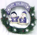 "Washington Huskies 20"" Team Snowman Wreath"
